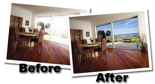 before and after for residential window tinting in las vegas and henderson nv